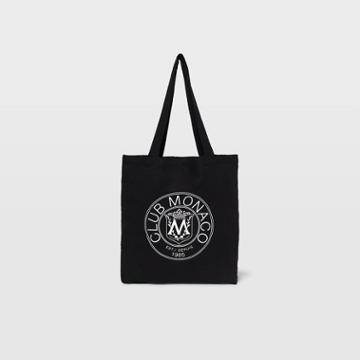Club Monaco Black Crest Tote