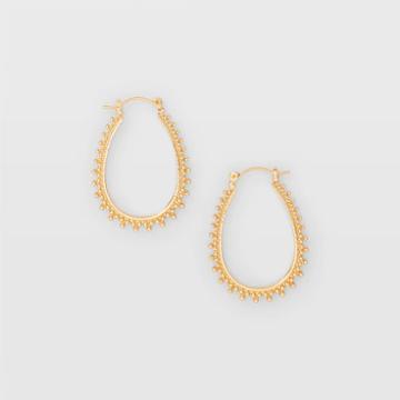 Club Monaco Color Gold Filigree Hoop Earring