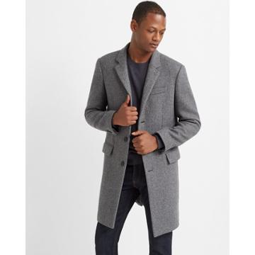 Club Monaco Grey Twill Topcoat