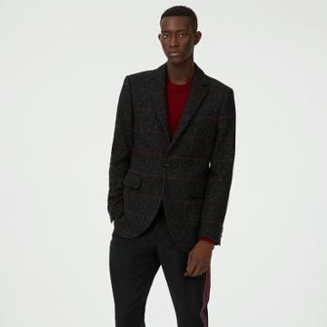 Club Monaco Color Grey Grant Plaid Holiday Blazer