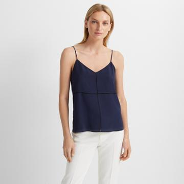 Club Monaco Navy/black Silk Camisole