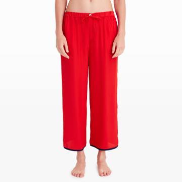 Sleepy Jones Color Red Sleepy Jones Silk Culottes
