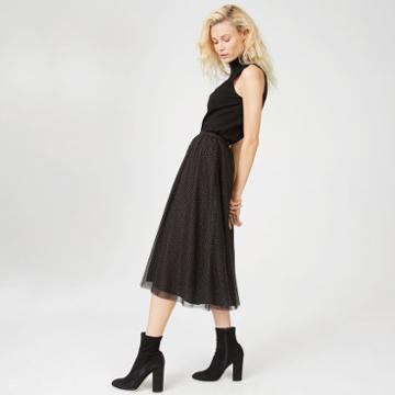 Club Monaco Color Black Ritos Skirt