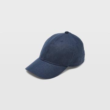 Club Monaco Aquamarine Linen-blend Baseball Cap