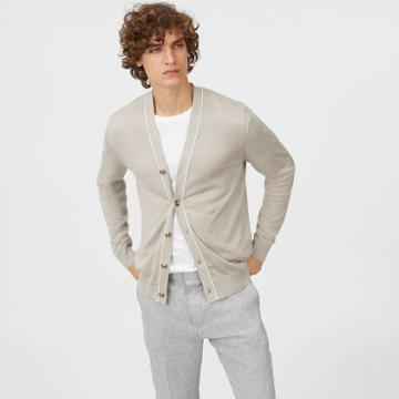 Club Monaco Color White Lightweight Linen Cardigan