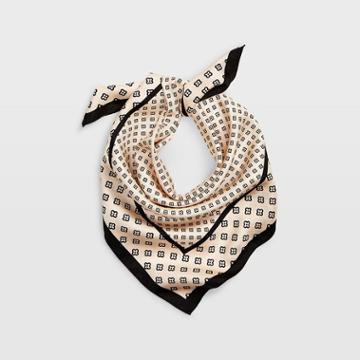 Club Monaco Pale Pink/black/multi Corla Silk Scarf