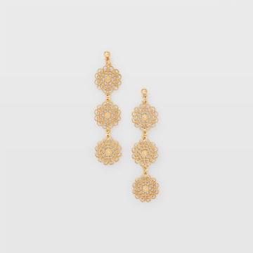Club Monaco Color Gold Filigree Drop Earring