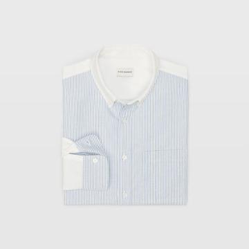 Rb Oxford Colorblock Stripe Shirt