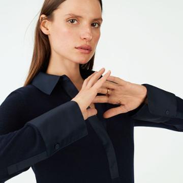 Club Monaco Color Blue Sosey Sweater