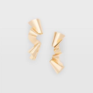 Club Monaco Gold Long Ribbon Earring