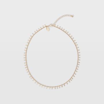 Club Monaco Gold Short Charm Necklace
