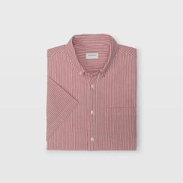 Club Monaco Slim Seersucker Stripe Shirt