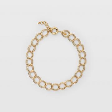 Club Monaco Gold Double Chain Necklace