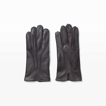 Gl Color Grey Washed Leather Glove