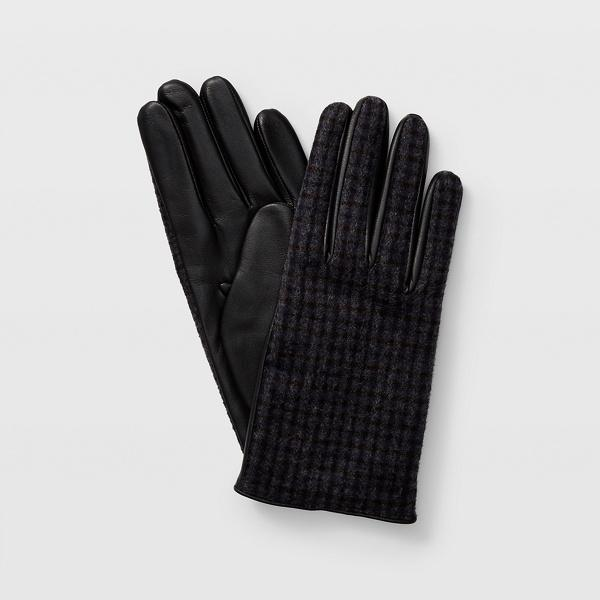 Club Monaco Grey Multi Claudia Check Leather Glove