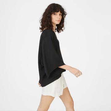 Club Monaco Color Black Tegen Shirt