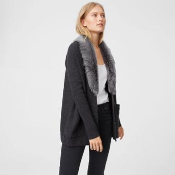 Club Monaco Color Grey Keila Cashmere Sweater
