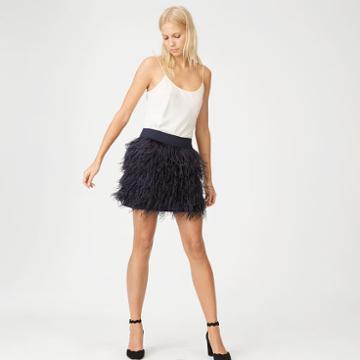 Club Monaco Color Navy Rahma Feather Skirt