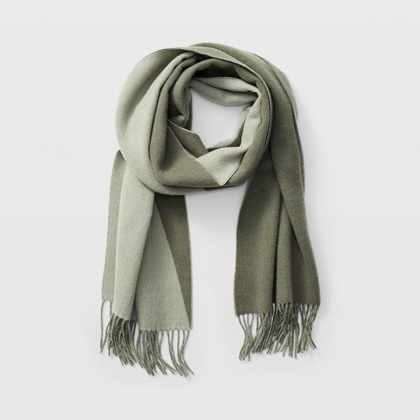 Club Monaco Green Multi Thisbee Block Scarf