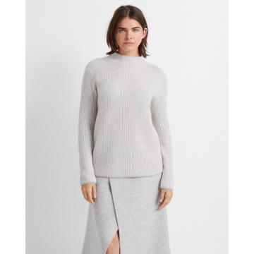 Club Monaco Light Heather Grey Margee Cashmere Sweater