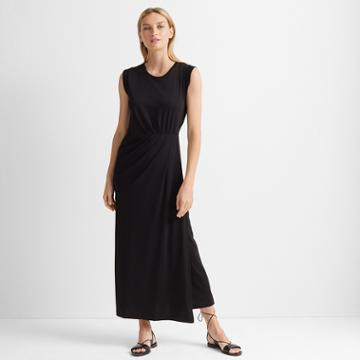 Club Monaco Black Knit Maxi Dress