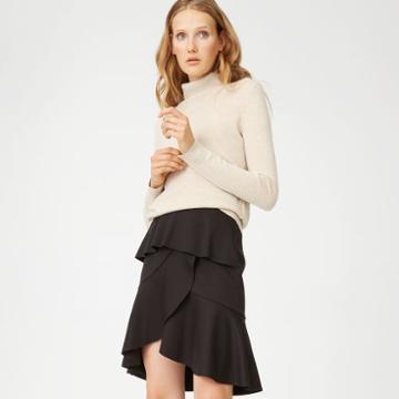 Club Monaco Color Black Scubarella Skirt
