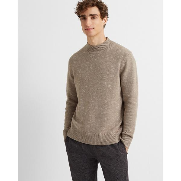Club Monaco Taupe Wool-blend Mockneck Sweater