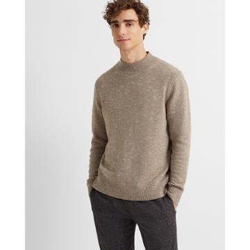 Club Monaco Taupe Wool-blend Mockneck Sweater