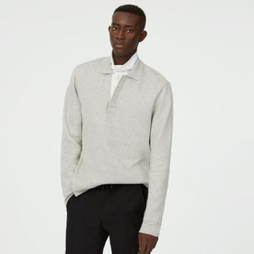 Club Monaco Color Grey Polo Sweatshirt