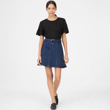 Club Monaco Color Blue Louiza Denim Skirt