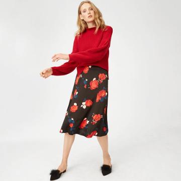 Club Monaco Color Black Sleyar Skirt