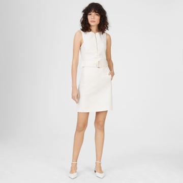 Club Monaco Color White Lizel Denim Dress