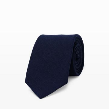 Club Monaco Color Blue Made In The Usa Linen Tie In Size One Size