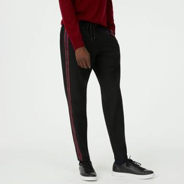 Club Monaco Color Black Varsity Tape Pant