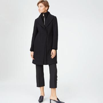 Club Monaco Color Black Kasppere Coat