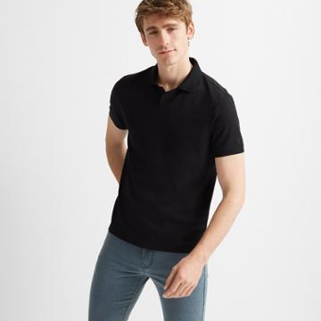 Club Monaco Black Johnny Collar Polo
