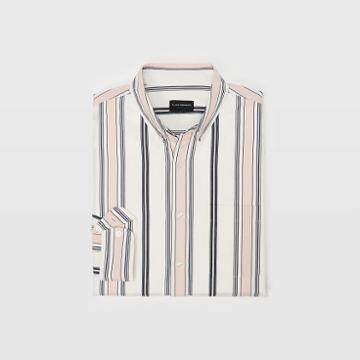 Club Monaco Slim Wide Stripe Shirt