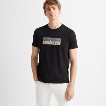 Club Monaco Black 1985 Graphic Tee