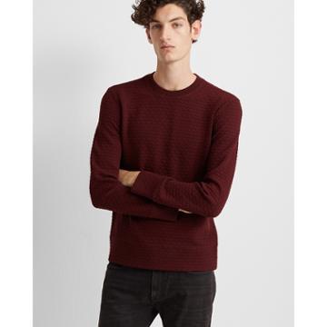 Club Monaco Red Deco Quilt Sweatshirt