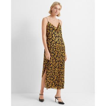 Club Monaco Gold/navy Burnout Slip Dress