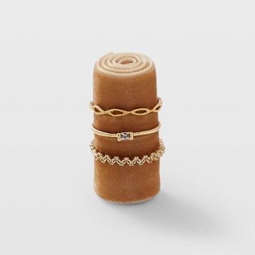Club Monaco Gold Serefina Sparkle Ring Set