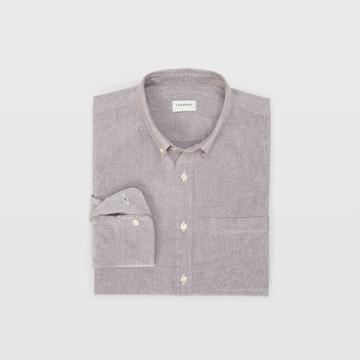 Club Monaco Color Purple Oxford Solid Shirt