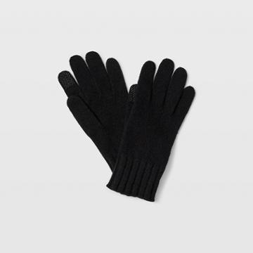 Club Monaco Black Portolano Cashmere Glove