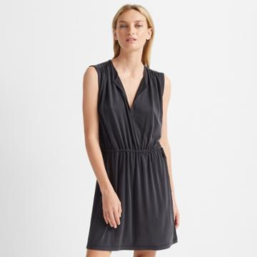 Club Monaco Black Tie Waist Knit Dress