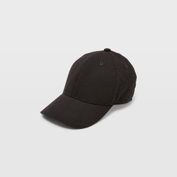 Club Monaco Black Seersucker Baseball Cap