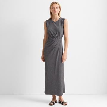 Club Monaco Heather Grey Knit Maxi Dress