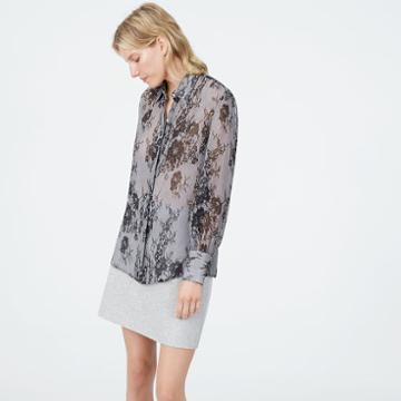 Club Monaco Color Black Margee Silk Shirt