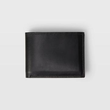 Club Monaco Color Black Cm Leather Bifold Wallet