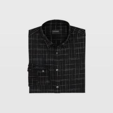 Club Monaco Slim Textured Check Shirt