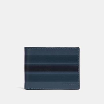 Coach Slim Billfold Wallet With Painted Varsity Stripe